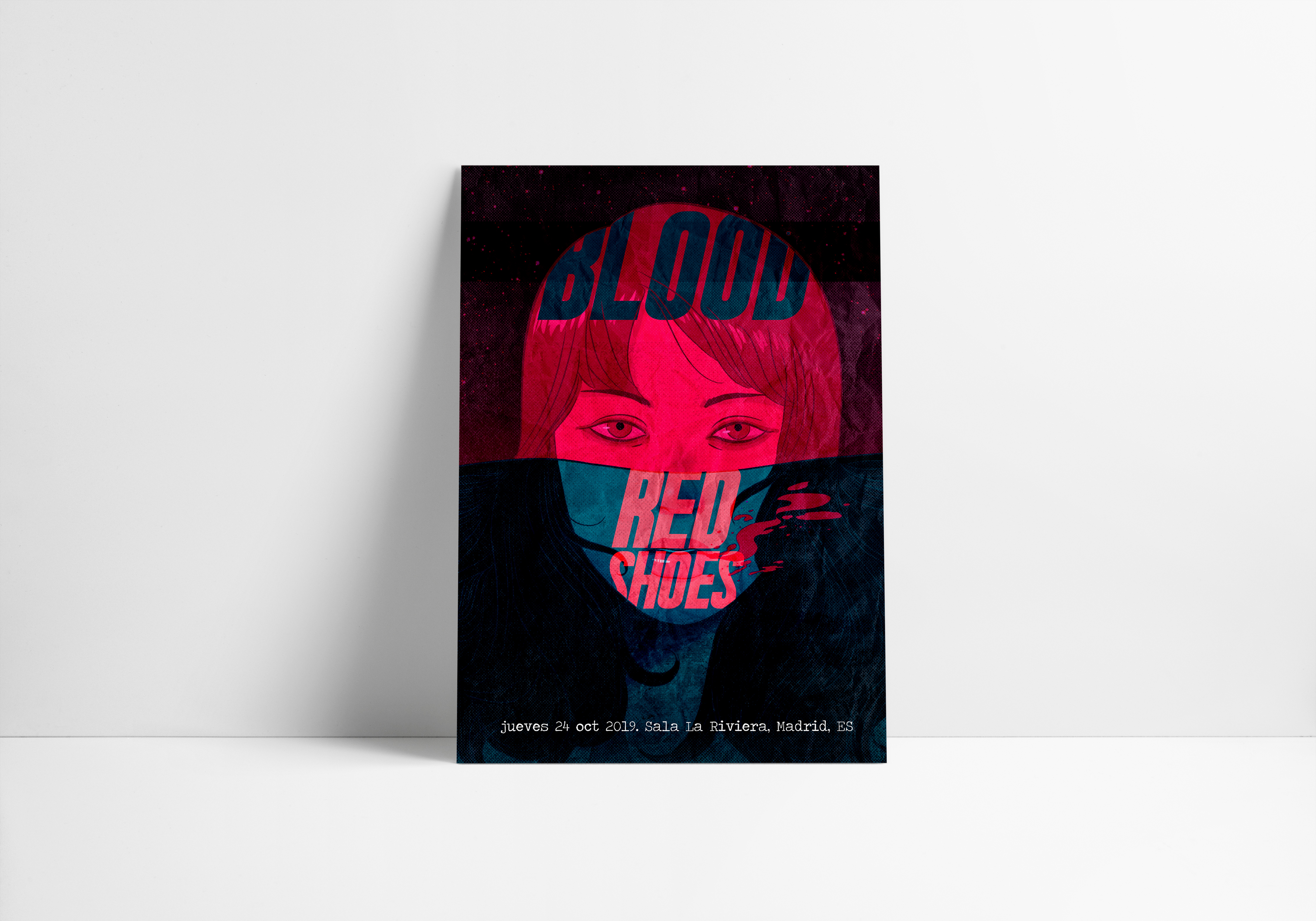 Diseño poster Blood Red Shoes